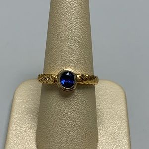 Jewelry - 22K Yellow Gold Round Tanzanite Ring Size 7 1/4